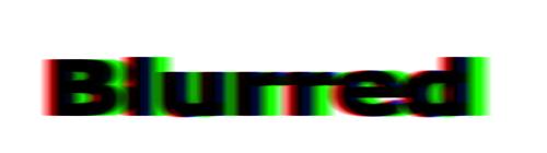 Blur / Verwarrende Tekst